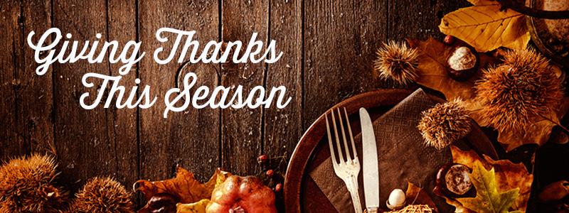 Giving Thanks This Season
